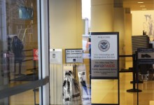 The US Citizenship and Immigration Services field office in Chicago at 101 W. Congress Parkway.