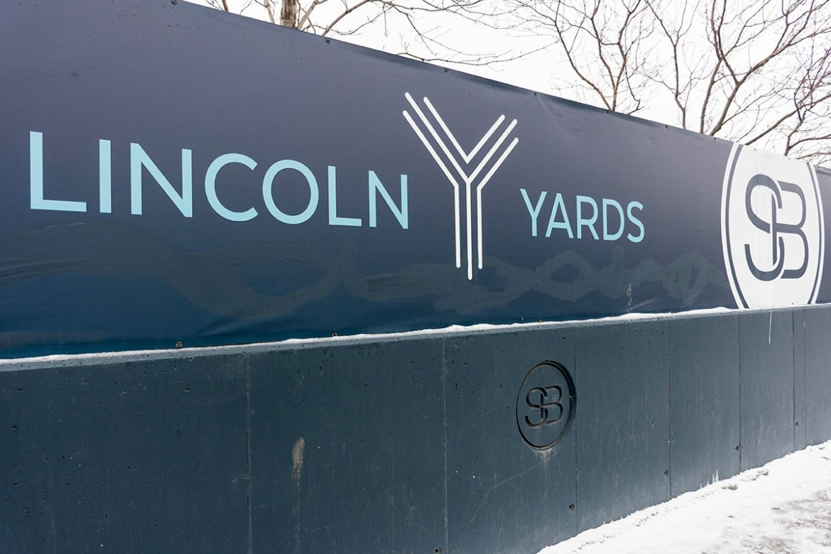 image of Lincoln Yards development in Chicago, IL. Taken January 23, 2019.