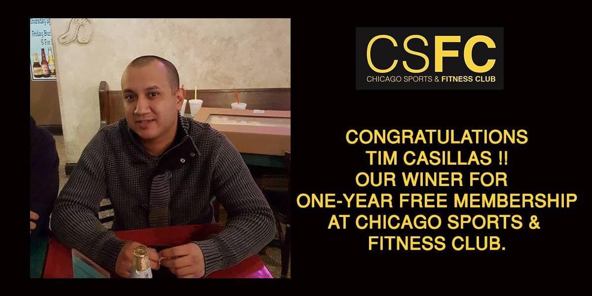 Chicago Sports & Fitness Club - Gym in Joliet - Free One year Membership Winner