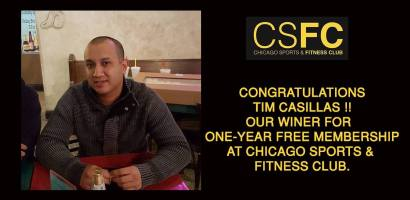 Chicago Sports & Fitness Club - Gym in Joliet - Free One year Membership Winner