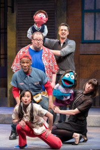 Avenue Q - Mercury Theater Chicago - Jackson, Evans, Sean Patrick Fawcett, Donterrio Johnson, Leah Morrow, Christine Bunuan