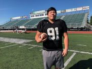 James Kim, an international exchange student from South Korea, has made his way into the rotation on the defensive line for Providence.