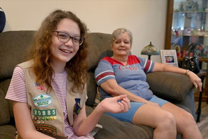 Thirteen-year-old Kasey Brislane is credited with helping save her former neighbor, Susi Schubert who slipped on ice and became trapped underneath a parked car this past winter. Brislane has hypersensitive hearing as a symptom of autism and was the only one who heard Schubert's cries for help on a freezing night in January.