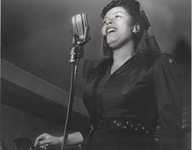 "The late jazz singer Billie Holiday, subject of a new documentary film titled ""Billie."""