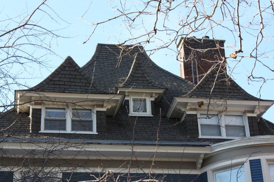 6222 N Lakewood roof and dormer detail