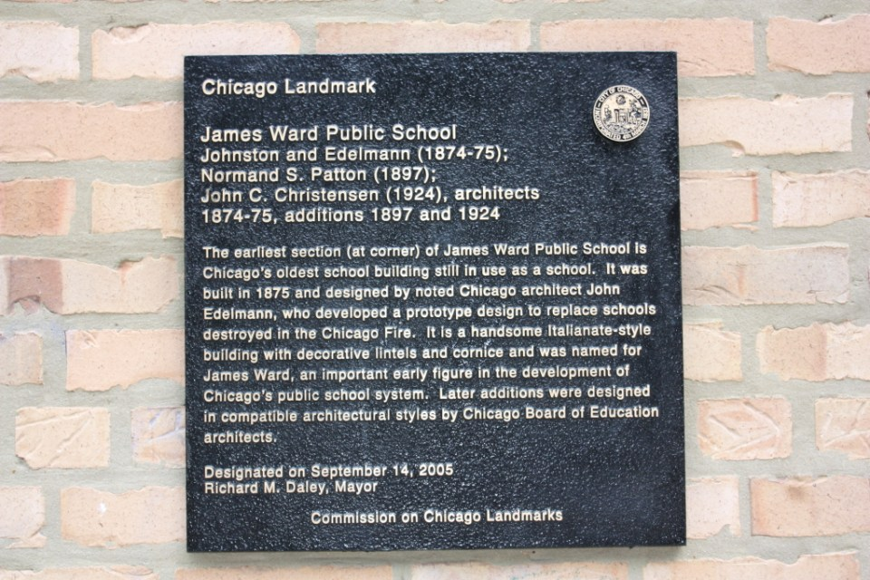 James Ward School marker