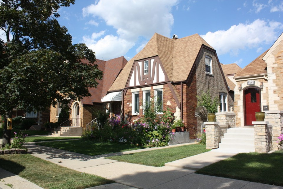 Schorsch Village homes on N Oak Park