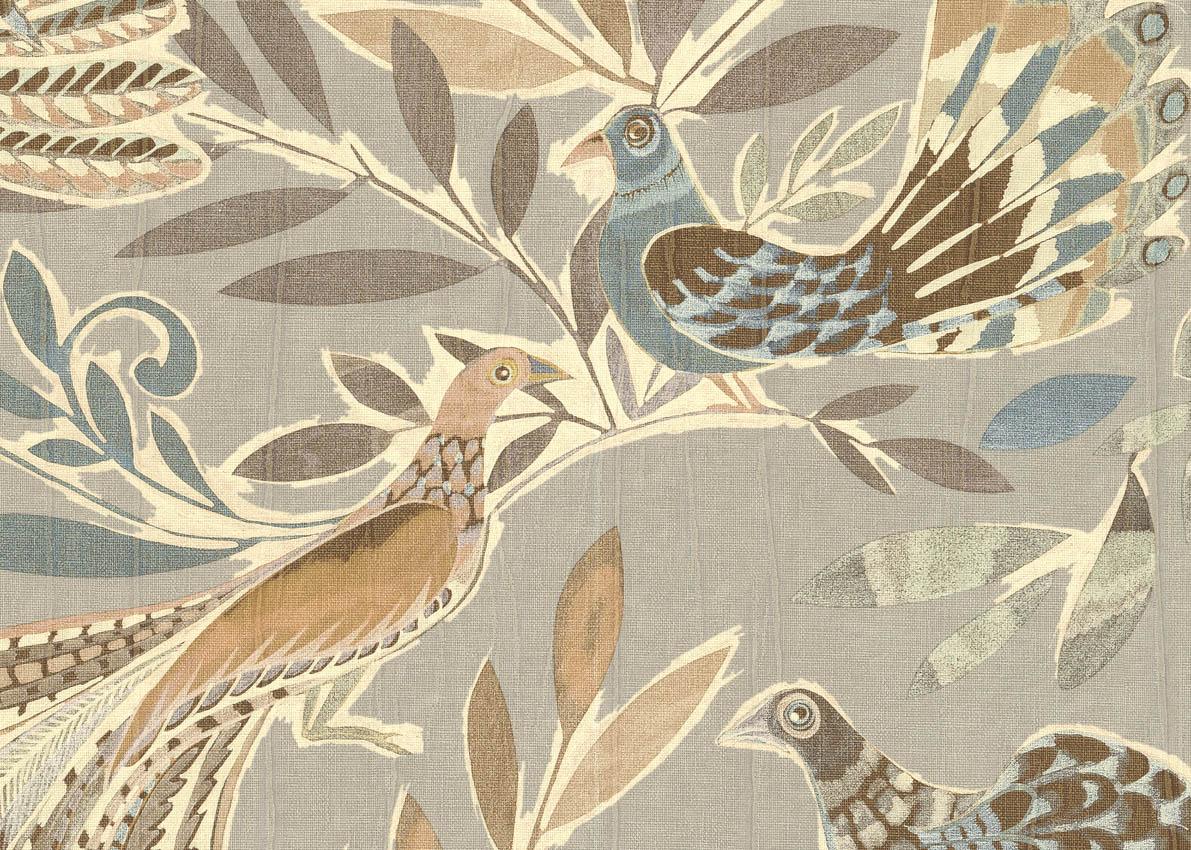 Appolonia in tnt carta da parati degli anni 70, € 59,90 al rotolo; Carta Da Parati In Vinile Con Design Di Uccelli Del Paradiso