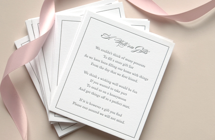 A Letterpress Wishing Well Poem For An Australian Wedding