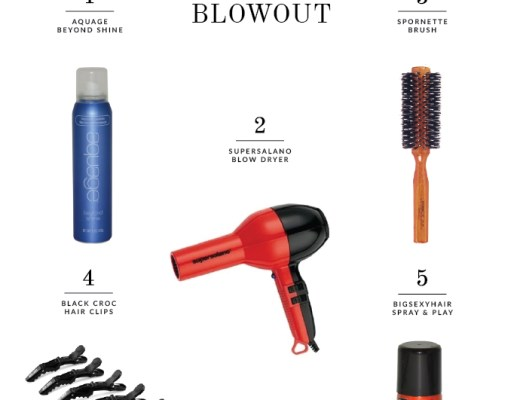 5 Tools for A Perfect Blow Out : 1) Aquage Beyond Shine, 2) supersalno hair dryer, 3) Spornette Brush, 4) Black Crock hair clips, 5) bigsexyhair Spray & Play | www.chicandsugar.com