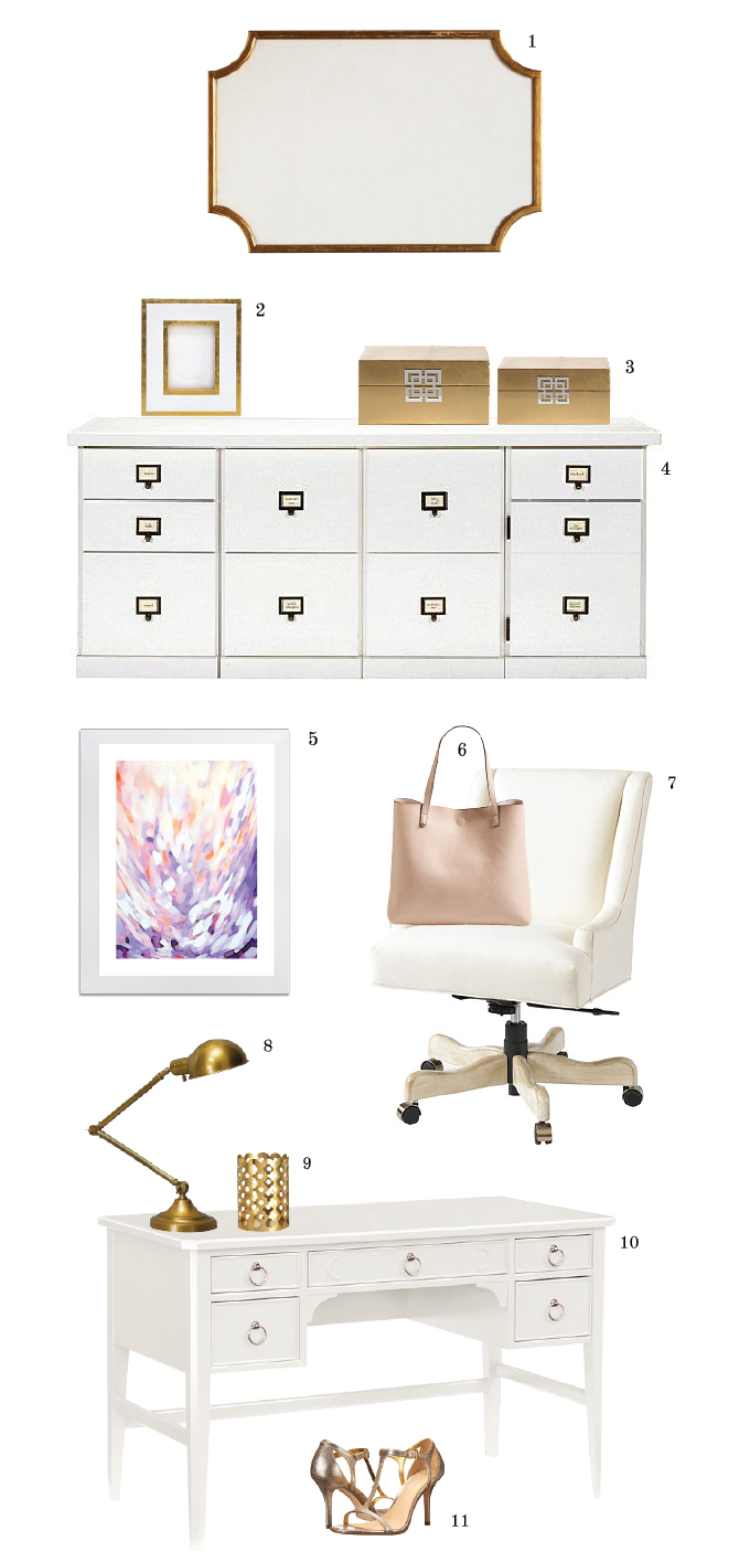 chic office decor. Clean And Chic Gold White Furniture Decor For My Home Office.| Www Office D