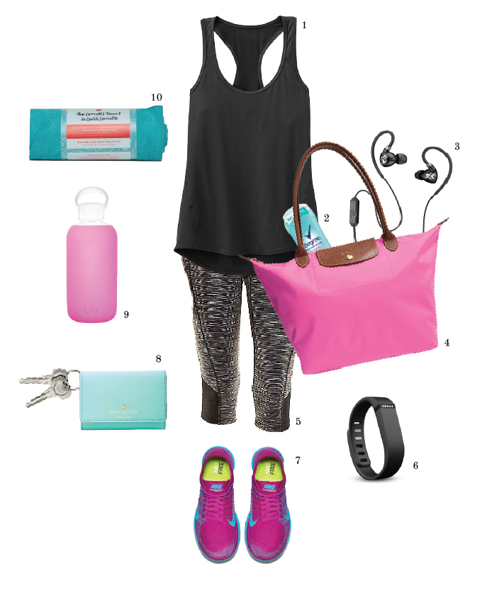 Warmer temps are coming! Time to get that body in shape! My fave picks for colorful and chic workout gear.| www.chicandsugar.com