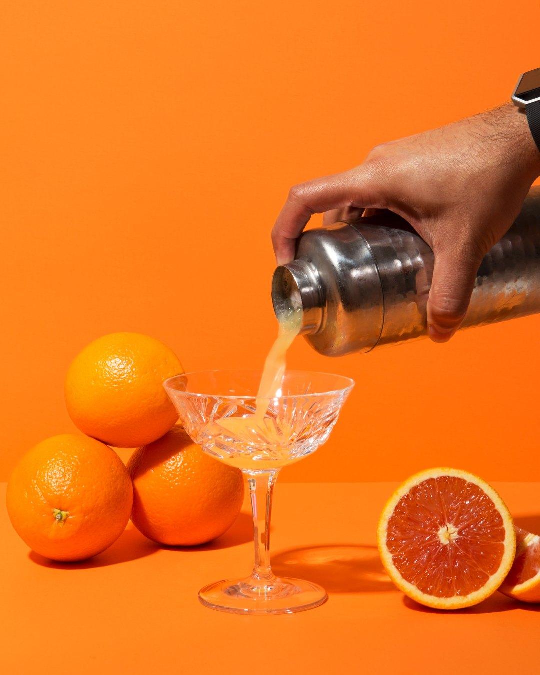 Cara Cara Orange Mezcal Sour