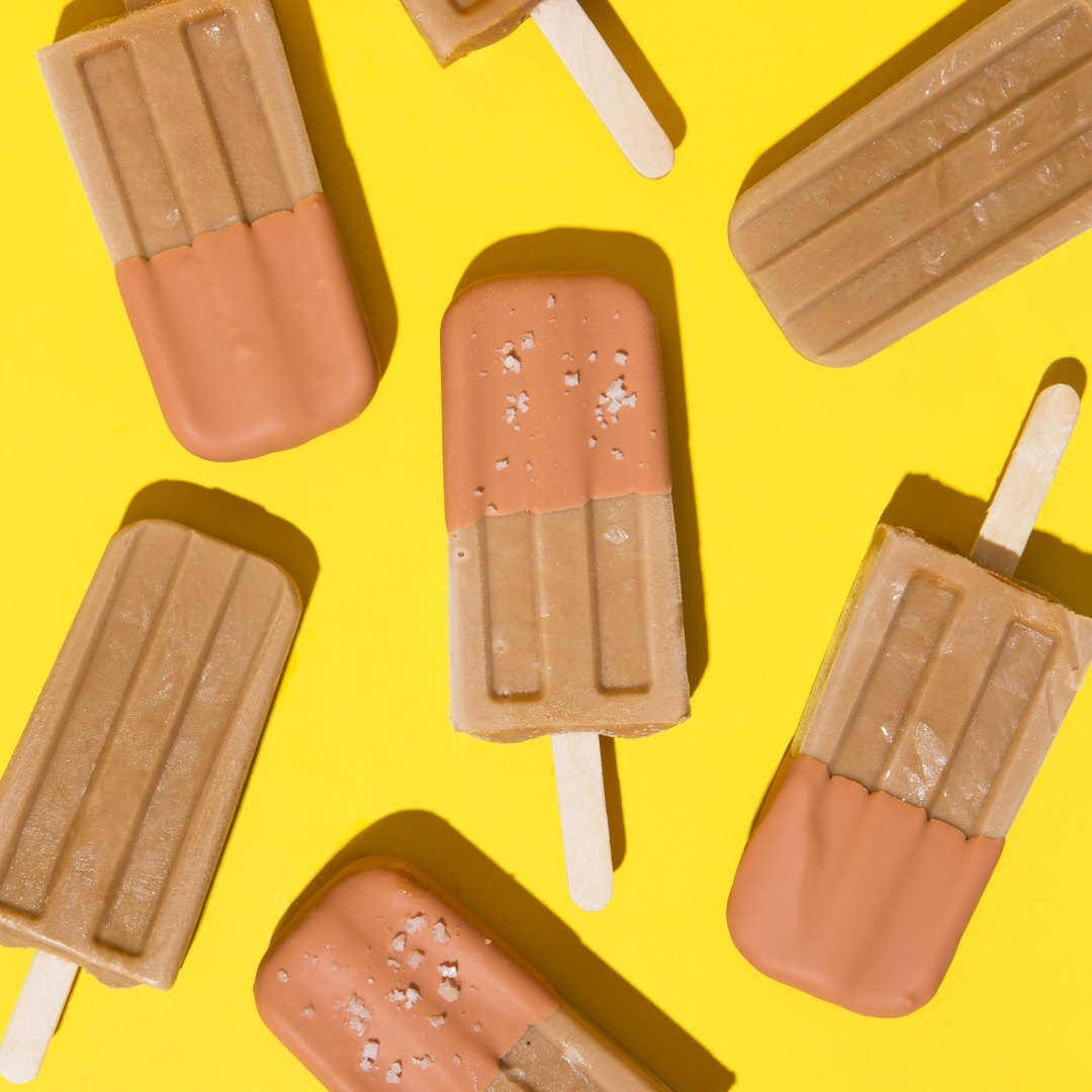 Coconut Café de Olla Popsicles with a Butterscotch Magic Shell