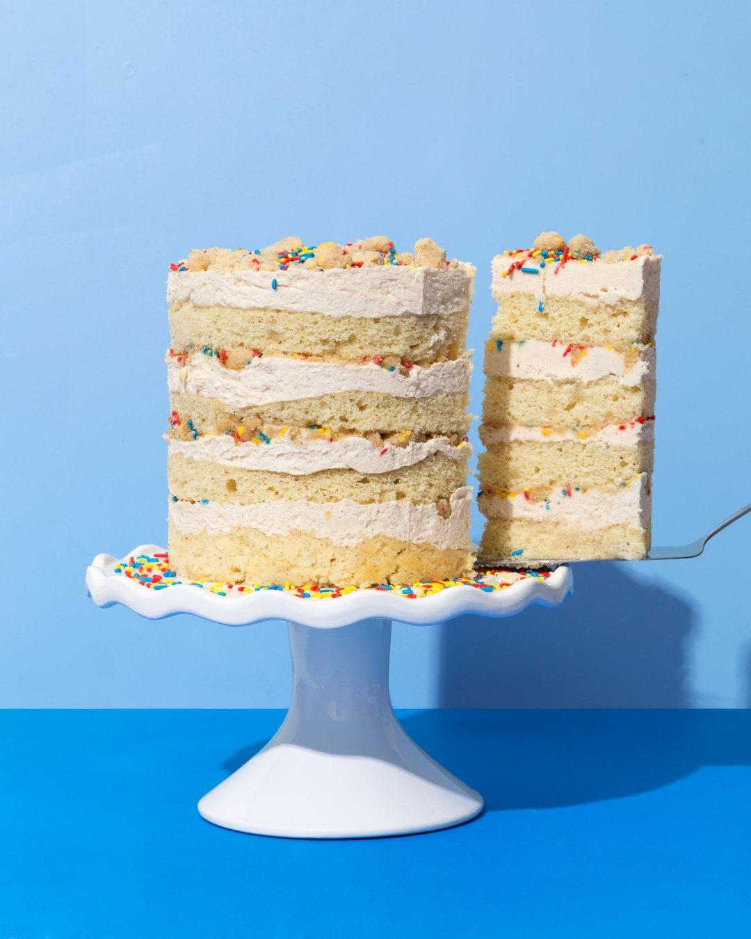 Strange Momofuku Milk Bar Inspired Horchata Birthday Cake Chicano Eats Personalised Birthday Cards Arneslily Jamesorg