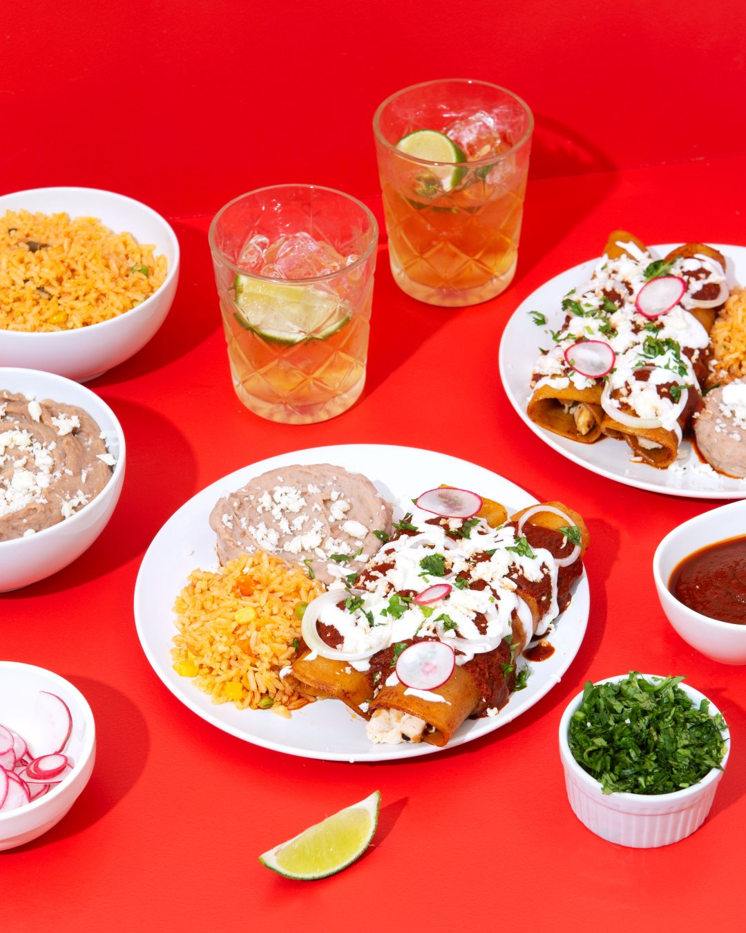 cold meal ideas: Enchiladas Rojas- Chicano Eats