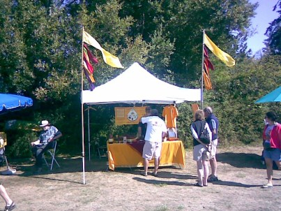 Chicaoji Booth at Lopez Island Farmers Market