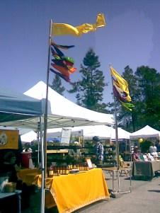 Chicaoji booth at San Juan Island Farmers Market