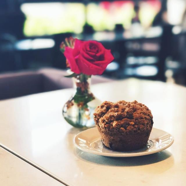 Monday morning muffin at Malmaison