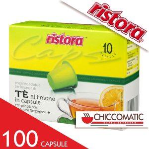 Vendita On line Ristora Compatibile Nespresso Tè al Limone - 100 Cialde - Chiccomatic Shop Online