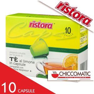 Vendita Ristora Compatibile Nespresso Tè al Limone - 10 Cialde - Chiccomatic Shop Online
