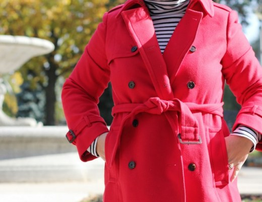 jcrew wool icon trench