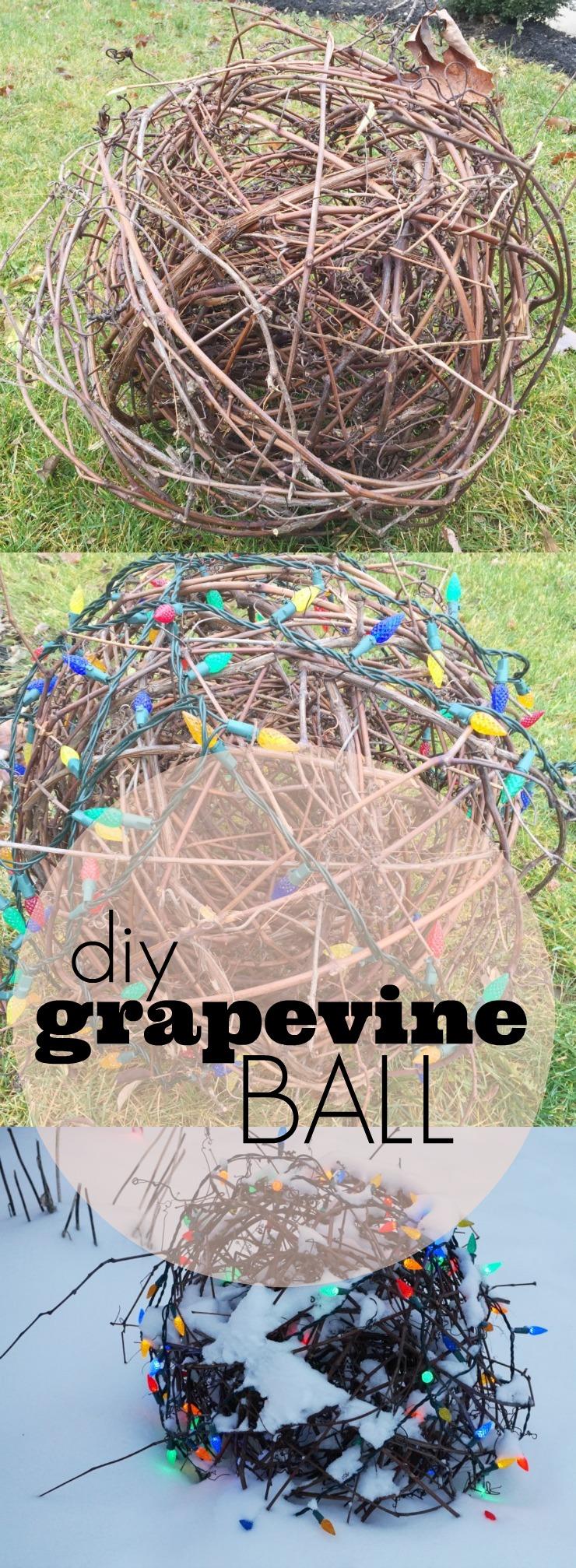 diy grapevine ball