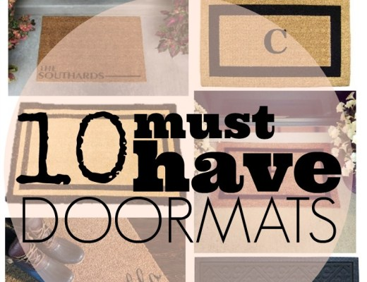 10 must have doormats, welcome mat, outdoor mat