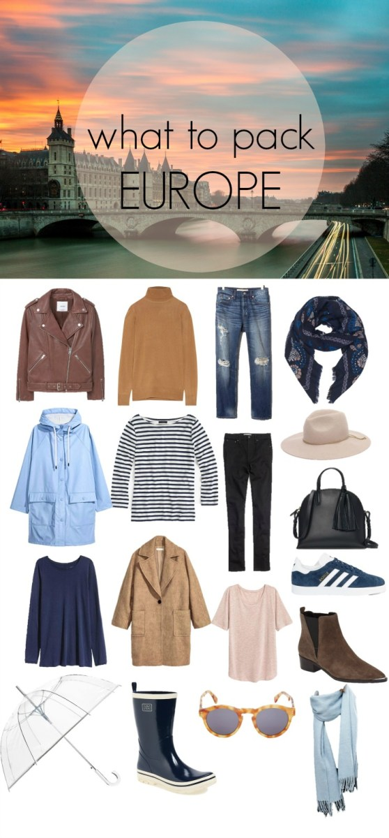 What to pack for Europe in Spring