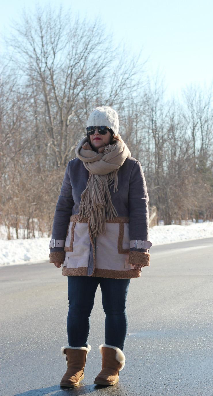 faux shearling coat, asos faux shearling