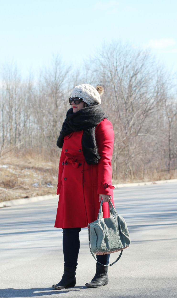 red jcrew icon trench
