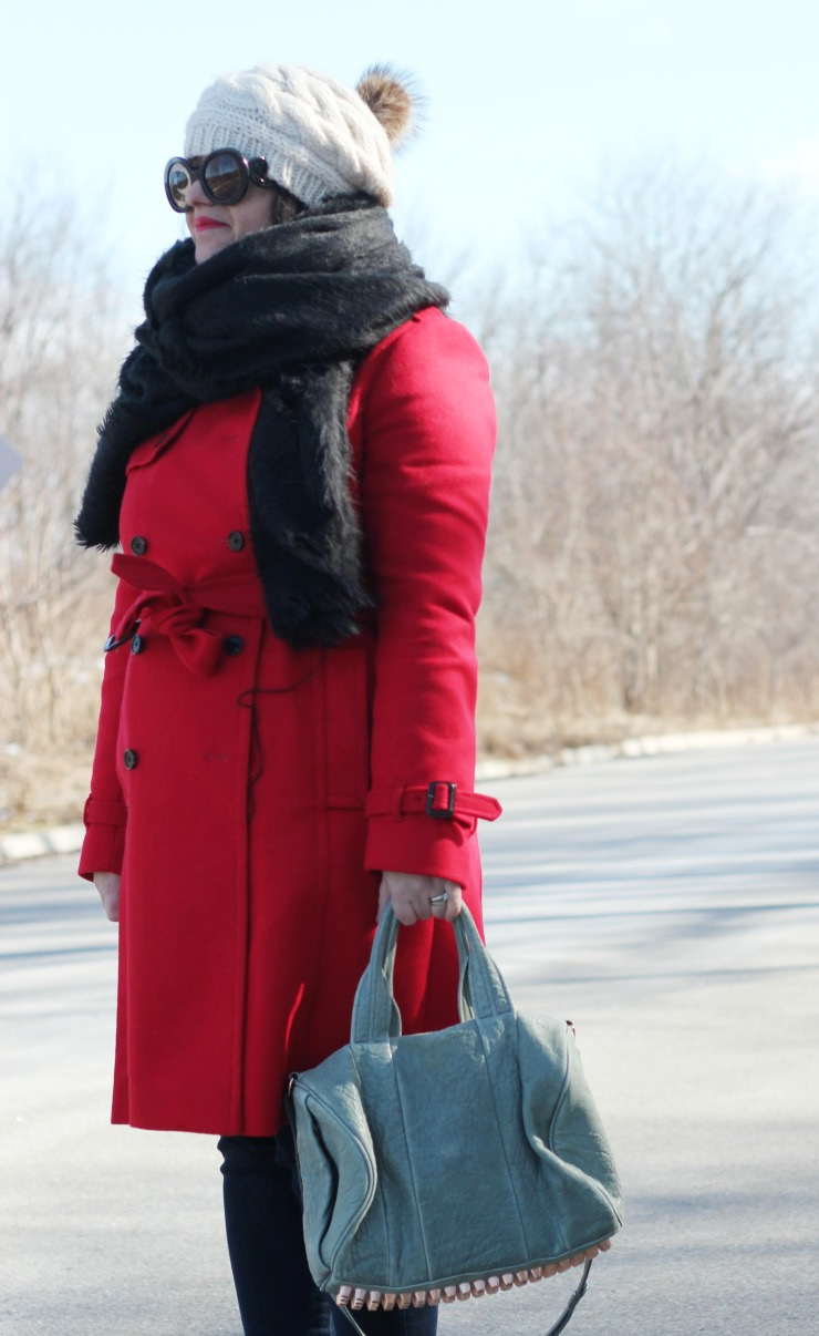 jcrew red wool icon trench