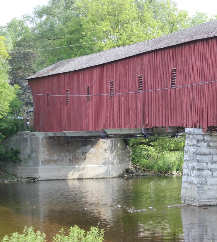 ontario road trip covered bridge