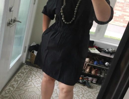 black dress hm
