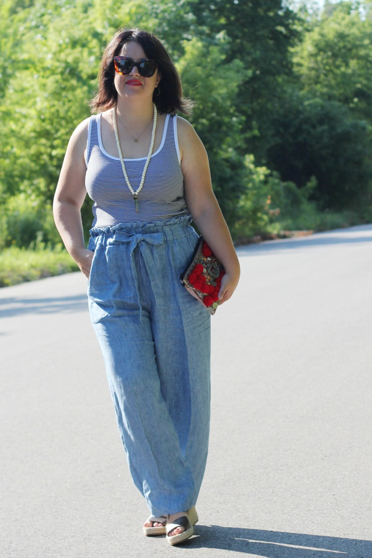 paper bag waist pants style