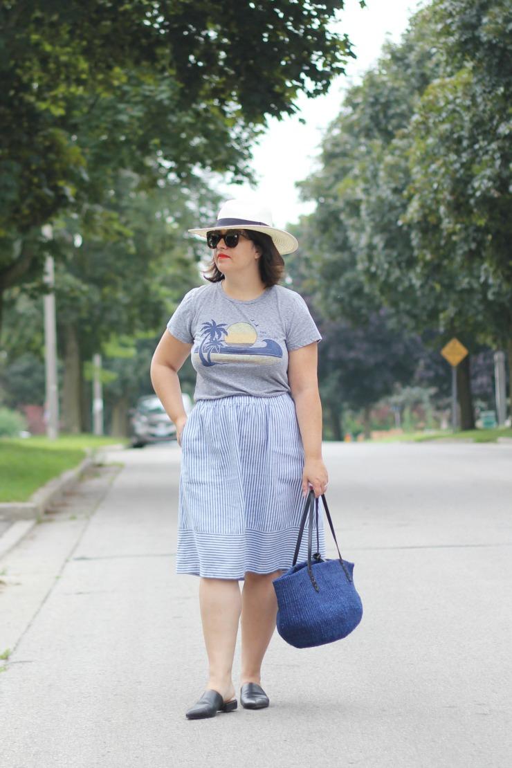 jcrew stripe skirt