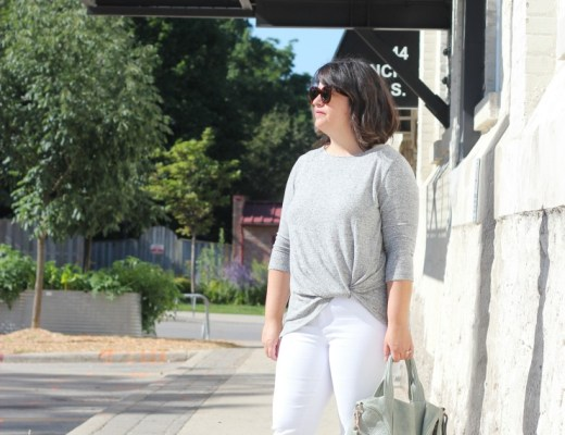 grey gibson twist front top