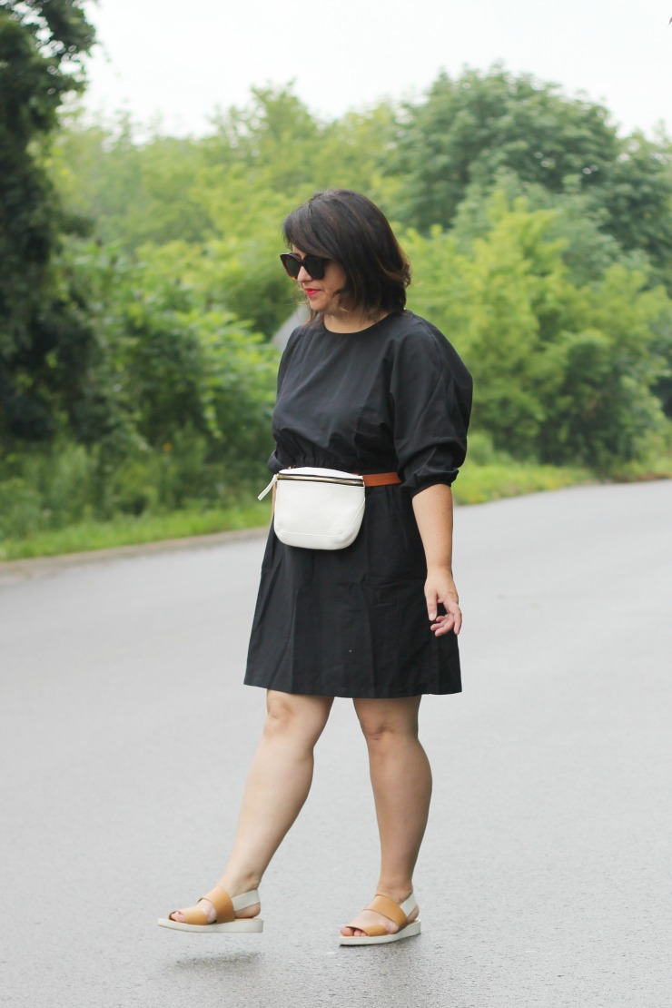 hm black cotton dress