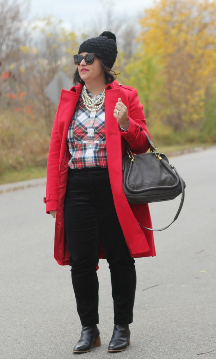 red black plaid christmas outfit