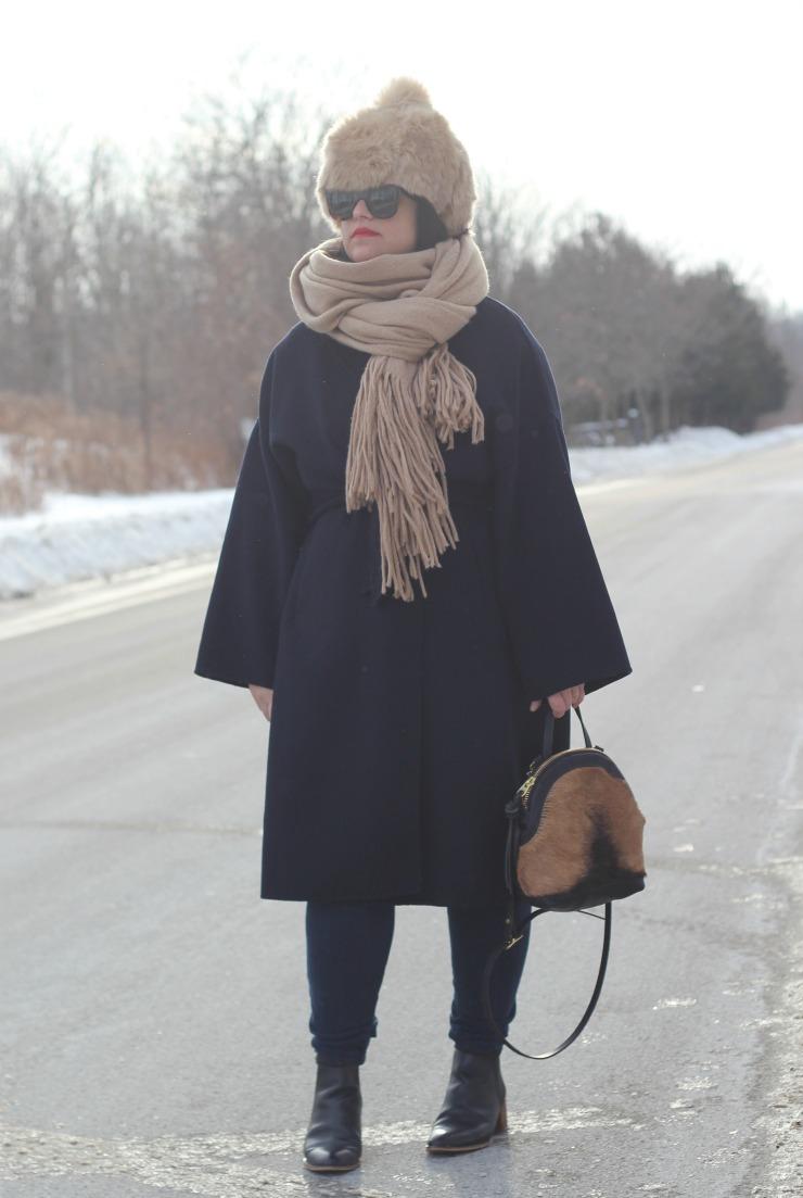 zara faux fur hat