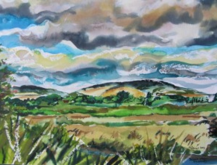 South Downs from Emsworth to Thorney Island (WATERCOLOUR WORKING STUDY 1)