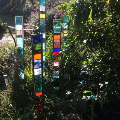 Stained glass columns - Stained glass - Various - by Karen Ongley-Snook
