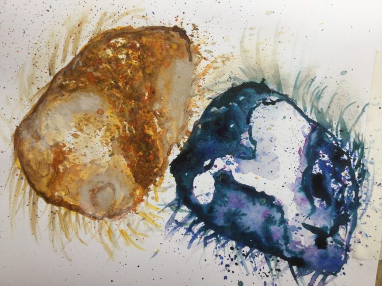 Spherical Pebble Dash - Watercolour