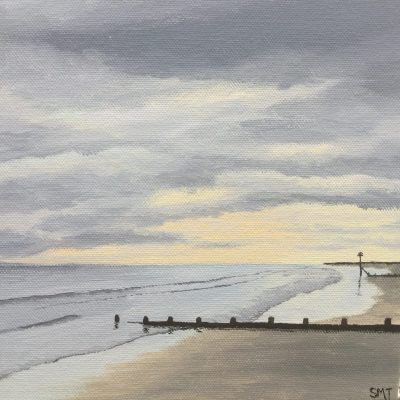 Cloudy Afternoon on Wittering Beach - Acrylic