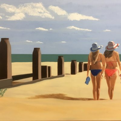 Admiring the View - Oil on canvas - 30x40cm - by Phil Reed