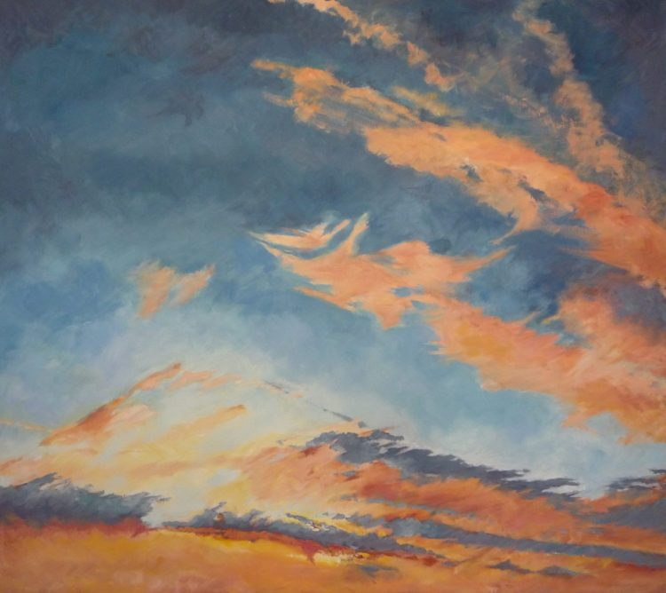 Umbria - Sunset at La Fossole - Oil