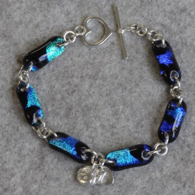 Bracelet - Glass and Silver - 15 cm - by Lorraine Keeler