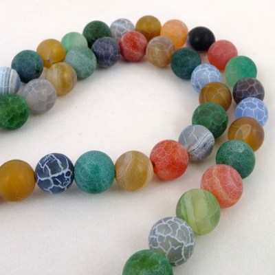 colourful agate - agate - necklace - by Jan Slough