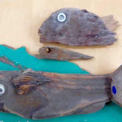 Driftwood Fish - Driftwood Sculpture - 45 x 75 cm - by Suzi Wright