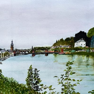 Heidelberg - Watercolour - 60 x 40 - by Ghislaine Davis